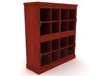 3dsmax santa fe stacked bookcase