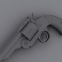 smith wesson schofield revolver 3d max