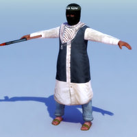 3ds max rigged terrorist
