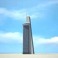 skyscraper antena 3d 3ds