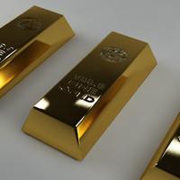 gold goldbar 3d model