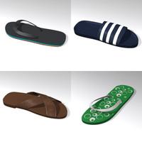 3d model sandals