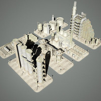 3d model industrial structure