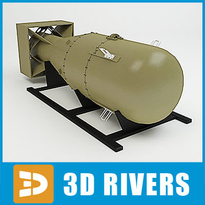 20th century atomic bomb 3d model - First atom bomb by 3DRivers... by 3DRivers