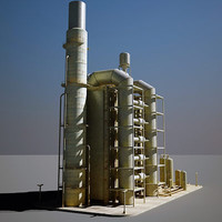 industrial structure 3d model
