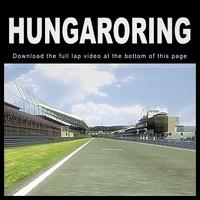 3d max hungaroring race track f1