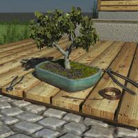 3dsmax bonsai tree pot tools