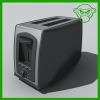 3d toaster toast model