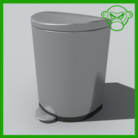 max trash stainless steel