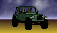 jeep tj wrangler 3d model
