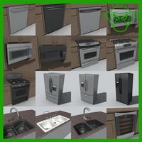 3d 3ds large appliance set
