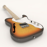 3d model fender telecaster thinline