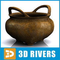Chinese bronze incised censer by 3DRivers