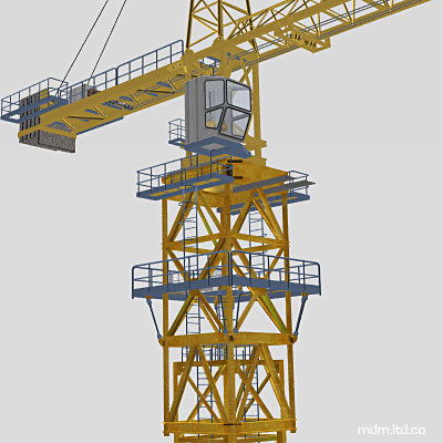tower cranes obj - Crane... by MDM_Models