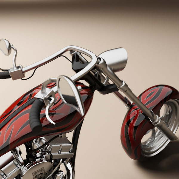 Custom chopper motorcycle