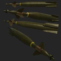 gbu-10 pavewayii missile 3d model