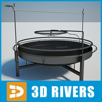 3d max barbecue grill