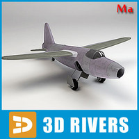 turbojet jet plane 3d model