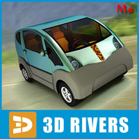 new car mini cat 3d model