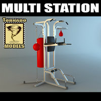 3d multi station boxing