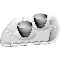 3d tea tray cups