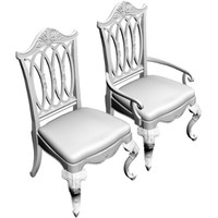 dining chair armchair obj