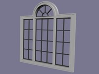 3d window set model