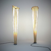 horn floor lamp aqua 3d model