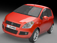 suzuki splash 3d model
