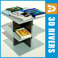 book shelf bookshelf 3d model