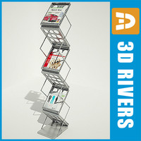 magazine rack book shelf 3d model