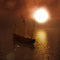 3d chinese pirate ship