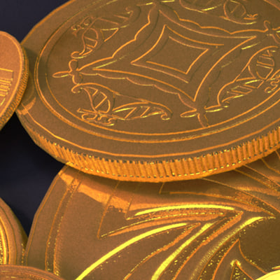 3d aztec gold - aztec gold money coins... by Vital3D