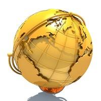 3d model desk globe