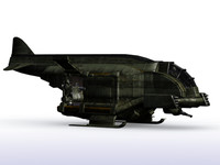 3d spaceship transport model