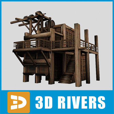 ready elevator mines 3d 3ds - Mine elevator by 3DRivers... by 3DRivers