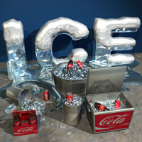 Ice,Cola, Cooler, Bucket Collection 01