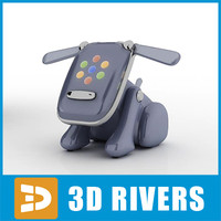 japanese idog toy 3d model