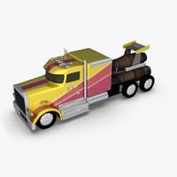 jet truck 3d model