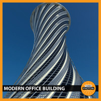 modern office building 05 3d obj