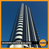 3d modern office building 01 model