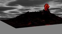 3d volcano mount doom