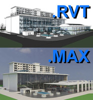 revit multi purpose building 3d model