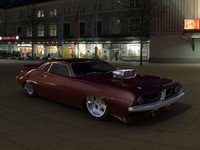 free c4d mode custom dodge drag car