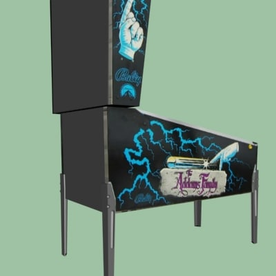 3d addams family pinball model - Pinball machine Addams Family... by zarday321