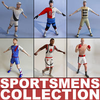 sportsmens games modelled 3d model