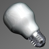 3d model lightbulb light