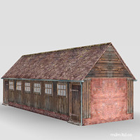 farm buildings 3d model