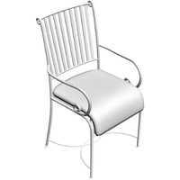 outdoor armchair 3d obj