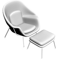 3d contemporary womb chair